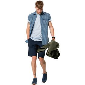 Jack Wolfskin El Dorado Shirt Korte Mouwen Heren, blauw